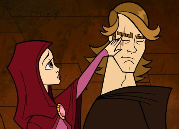 Padme-noticing-scar-on-face-of-Anakin