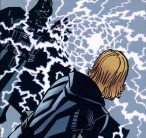 Vader, a Kaiburr kristály használata közben